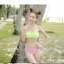 PRE ชุดว่ายน้ำบิกินี่ บรามีโครง สายคล้องคอ กางเกงบิกินี่ พร้อมเสื้อคลุมลายสวยเก๋ thumbnail 15