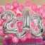 """ลูกโป่งฟอยล์รูปตัวเลข 6 สีเงิน ไซส์จัมโบ้ 40 นิ้ว - Number 6 Shape Foil Balloon Size 40"""" Silver Color thumbnail 7"""