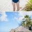 พร้อมส่ง ชุดว่ายน้ำวันพีซ ลายNavy สีน้ำเงินกรมท่า สายมัดคอ เว้าหลังลึก thumbnail 9