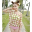 PRE ชุดว่ายน้ำบิกินี่ บรามีโครง สายคล้องคอ กางเกงบิกินี่ พร้อมเสื้อคลุมลายสวยเก๋ thumbnail 3