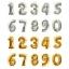 """ลูกโป่งฟอยล์รูปตัวเลข 5 สีทอง ไซส์เล็ก 14 นิ้ว - Number 5 Shape Foil Balloon Size 14"""" Gold Color thumbnail 6"""