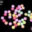 ลูกปัดพลาสติก สีพาลเทล กลม คละสี 6มิล(1ขีด/100กรัม) thumbnail 1