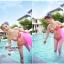 พร้อมส่ง ชุดว่ายน้ำ Bikini ผูกข้าง สีแดงแต้มลายจุดขาวน่ารัก สายคล้องคอ thumbnail 4