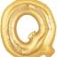 """ลูกโป่งฟลอย์รูปตัวอักษร Q สีทอง ไซส์จัมโบ้ 40 นิ้ว - Q Letter Shape Foil Balloon Size 40"""" Gold Color thumbnail 1"""