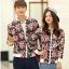 เสื้อกันหนาวคู่รักพร้อมส่ง แฟชั่นคู่รัก ชาย +หญิงเสื้อกันหนาวคู่รัก แบบซิบ ลายธงชาติเมกา thumbnail 1