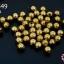 ลูกปัดโลหะ ทองเหลือง กลมเหลี่ยม 5มิล (1ขีด/100กรัม) thumbnail 1