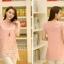 เสื้อตัวยาวแฟชั่นเกาหลี แต่งแบบ 2 ชั้น พิมพ์ลายตามภาพ ชั้นนิกบุลายดอกไม้สวยเก๋ สำเนา thumbnail 5