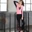 ชุดว่ายน้ำขายาวแขนยาว สีชมพู เซ็ต 4 ชิ้น (สปอร์ตบรา+เสื้อแขนยาว+บิกินี่+ขายาว) thumbnail 2