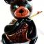 โคมไฟกะลามะพร้าวรูปหมี Coconut Shell Lamp Teddy Bear thumbnail 1