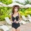 PRE ชุดว่ายน้ำวันพีซ เว้าใต้อก บราโครงแต่งโบว์ใหญ่สวยเก๋ สายปรับได้ตามสรีระ thumbnail 10