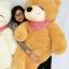 ตุ๊กตาหมีหลับ ตุ๊กตาตัวใหญ่ ขนาด 1.6 เมตร สีน้ำตาลอ่อน thumbnail 1