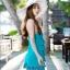 PRE ชุดว่ายน้ำคู่รัก ชุดว่ายน้ำทรงแซกแต่งลายสวยสีฟ้าน้ำทะเล ด้านหน้าแต่งระบายเป็นชั้นๆ กางเกงแยกชิ้น thumbnail 6