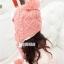 หมวกแฟชั่นเกาหลีพร้อมส่ง ปิดหูครอบหัว เอสกิโม่ปิดหูมีจุกด้านบน กันหนาวหิมะ สีชมพู thumbnail 5