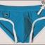 PRE กางเกงว่ายน้ำชาย ตัดขอบสีขาว แต่งกระดุมเก๋ มีสายผูกเอวด้านข้าง thumbnail 7
