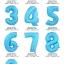"""ลูกโป่งฟอยล์รูปตัวเลข 5 สีฟ้าพิมพ์ลายดาว ไซส์จัมโบ้ 40 นิ้ว - Number 5 Shape Foil Balloon Size 40"""" Blue Color printing Star thumbnail 2"""