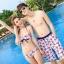 PRE ชุดว่ายน้ำคู่รัก บิกินี่ ลายสวย พร้อมชุดคลุมเอี๊ยม มีฮู้ด thumbnail 16