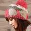 หมวกไหมพรมแฟชั่นเกาหลีพร้อมส่ง ทรงดีไซต์เก๋ ลายโบว์ลูกใหญ่ มีจุก สีแดง thumbnail 1