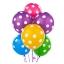 """ลูกโป่งกลมพิมพ์ลายจุด Polka Dot ไซส์ 12 นิ้ว คละสี แพ็คละ 100 ใบ (Round Balloons 12"""" - Polka Dot Printing latex balloons) thumbnail 5"""