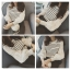 เสื้อแฟชั่นเกาหลี แขนยาว แต่งแขนเสื้อน่ารักเก๋ๆ ตามภาพ คัวเสื้อลายขวางขาวดำ thumbnail 3