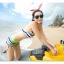 พร้อมส่ง ชุดว่ายน้ำทูพีซ บรา+กางเกงขาสั้น สีรุ้งสดใสสวยๆ thumbnail 5