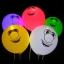ลูกโป่งคละสี พิมพ์ลายหน้ายิ้ม Smiley แพ็ค 5 ชิ้น ไฟกระพริบ (Smiley latex Balloon - LED RGB Mode) thumbnail 1