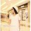 เสื้อคลุมท้องแขนสั้น ไหล่เว้ามีลูกปัด : สีขาว รหัส SH182 thumbnail 14