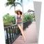 พร้อมส่ง ชุดว่ายน้ำวันพีซ สายคล้องคอ หลังเว้าลึกเซ็กซี่ ผ้าตาข่าย จับจีบย่นด้านข้างสวยๆ thumbnail 6