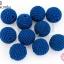 ลูกปัดเม็ดถัก สีน้ำเงิน 20มิล(10ชิ้น) thumbnail 1