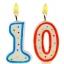 เทียนวันเกิดตัวเลข ลายจุด (เลข 0-9) กรุณาระบุตัวเลขที่ต้องการเมื่อทำการสั่งซื้อด้วยนะคะ / Item No. TL-N007 thumbnail 2