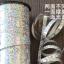 ริบบิ้นม้วนใหญ่สีเงินเลเซอร์ สำหรับผูกลูกโป่ง ยาว 350 เมตร - Silver Holographic Curling Balloon Ribbon thumbnail 1