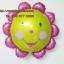 ลูกโป่งฟลอย์ Pink Flower หน้ายิ้ม ไซส์เล็ก - Pink Flower Small size Foil Balloon / Item No. TL-A074 thumbnail 4