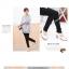 กางเกงเลคกิ้งผ้ายืดขายาว : สีเทา รหัส PN003 thumbnail 2