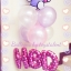 Set#40 ช่อลูกโป่ง Hello Kitty(แบรนด์Anagram)+ลูกโป่งไซส์ 12 นิ้ว 6 ใบ+ตัวอักษรฟลอย์ 14 นิ้ว HBD thumbnail 1
