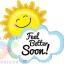 """ลูกโป่งฟลอย์ก้อนเมฆและพระอาทิตย์เยี่ยมไข้ 31"""" SHAPE FEEL BETTER SOON SUNSHINE (PK)/ Item No.TQ-BL35152P แบรนด์ Qualatex thumbnail 1"""