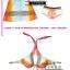 PRE ชุดว่ายน้ำบิกินี่ เซ็ต 3 ชิ้น บราสายคล้องคอ สลับสี พร้อมชุดคลุมแซกสม็อกใต้อกสีสันสวย thumbnail 6