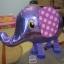 Purple Elephant Walking Balloons - ช้างน้อยบอลลูน สีม่วง / Item No. TL-K007 thumbnail 4