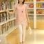 เสื้อตัวยาวแฟชั่นเกาหลี แต่งแบบ 2 ชั้น พิมพ์ลายตามภาพ ชั้นนิกบุลายดอกไม้สวยเก๋ สำเนา thumbnail 2