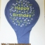"""ลูกโป่งจัมโบ้ สีน้ำเงินพิมพ์ลาย Happy Birthday ขนาด 24 นิ้ว - Round Jumbo Balloon Blue printing HBD 24"""" thumbnail 4"""