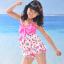 พร้อมส่ง ชุดว่ายน้ำเด็กหญิง tankini เสื้อยาว ลายเชอรี่หวานน่ารัก แต่งโบว์ใหญ่ที่อก กางเกงขาสั้น thumbnail 10