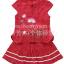 ชุดเสื้อ+กางเกง ลายปักดอกไม้ เด็กผู้หญิง สีแดง thumbnail 2