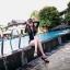 ชุดว่ายน้ำแขนยาว เซ็ต 3 ชิ้น สีขาว-ดำ (บรา+กางเกงขาสั้น+เสื้อแขนยาว) thumbnail 6