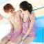PRE ชุดว่ายน้ำคู่รัก หญิง เซ็ต 4 ชิ้น บรา บิกินี่ เสื้อคลุม กางเกงขาสั้น ชายกางเกงขาสั้น thumbnail 3