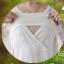 MK8818 เสื้อเปิดให้นม โทนสีขาว คอแต่งด้วยลูกไม้นิ่ม ด้านหน้าเปิดให้นมน้องได้สะดวก เนื้อผ้านิ่มมากๆ ค่ะ ใส่สบาย จะใส่คู่กางเกงหรือกระโปรงก็ดูน่ารักมากๆ ค่ะ thumbnail 8
