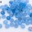 ลูกปัดแก้ว ทรงจานบิน สีน้ำเงินอ่อน 8มิล(1ขีด/100กรัม) thumbnail 1