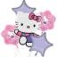ลูกโป่งฟลอย์นำเข้า Hello Kitty Pink & Purple / Item No. AG-16800 แบรนด์ Anagram ของแท้ thumbnail 2