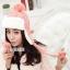 หมวกแฟชั่นเกาหลีพร้อมส่ง ปิดหูครอบหัว เอสกิโม่ปิดหูมีจุกด้านบน กันหนาวหิมะ สีชมพู thumbnail 3