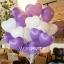 """ลูกโป่งหัวใจ เนื้อสแตนดาร์ทสีม่วง ไซส์ 12 นิ้ว แพ็คละ 10 ใบ (Heart Latex Balloon - Purple Color 12"""") thumbnail 1"""