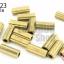 ลูกปัดทองเหลือง ทรงปล้องลาย 6X13มิล (1ขีด/100กรัม) thumbnail 1