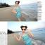 พร้อมส่ง ชุดว่ายน้ำบิกินี่ทูพีช สายคล้องคอ กางเกงดีไซน์ขอบเข็มขัดลายสวย พร้อมชุดแซก thumbnail 5