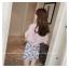 เสื้อแฟชั่นเกาหลี แขน 2 ส่วนแต่งระบายใหญ่ สวยเก๋ สีชมพูอ่อน + สร้อยคอ thumbnail 7